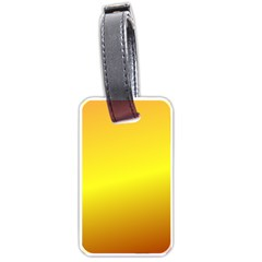 Gradient Orange Heat Luggage Tags (two Sides)