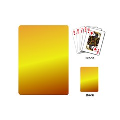 Gradient Orange Heat Playing Cards (mini)