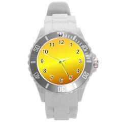 Gradient Orange Heat Round Plastic Sport Watch (l)