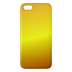 Gradient Orange Heat Apple Iphone 5 Premium Hardshell Case