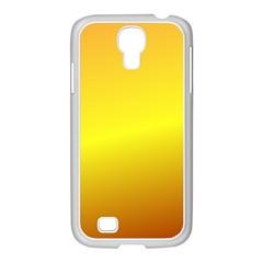 Gradient Orange Heat Samsung Galaxy S4 I9500/ I9505 Case (white)