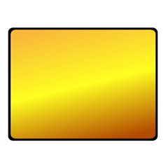 Gradient Orange Heat Double Sided Fleece Blanket (small)