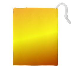 Gradient Orange Heat Drawstring Pouches (xxl)