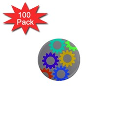 Gear Transmission Options Settings 1  Mini Magnets (100 Pack)