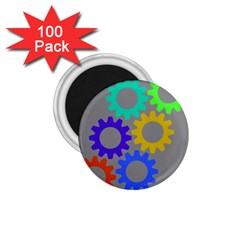 Gear Transmission Options Settings 1 75  Magnets (100 Pack)