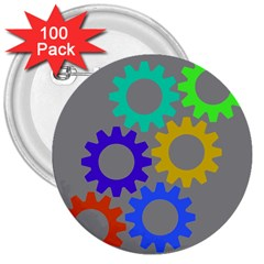 Gear Transmission Options Settings 3  Buttons (100 Pack)