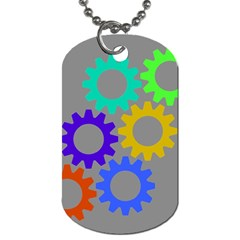 Gear Transmission Options Settings Dog Tag (two Sides)