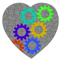 Gear Transmission Options Settings Jigsaw Puzzle (heart)