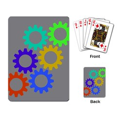 Gear Transmission Options Settings Playing Card