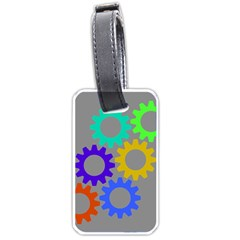 Gear Transmission Options Settings Luggage Tags (two Sides)