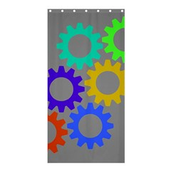 Gear Transmission Options Settings Shower Curtain 36  X 72  (stall)