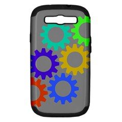 Gear Transmission Options Settings Samsung Galaxy S Iii Hardshell Case (pc+silicone)
