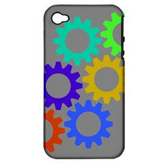 Gear Transmission Options Settings Apple Iphone 4/4s Hardshell Case (pc+silicone)