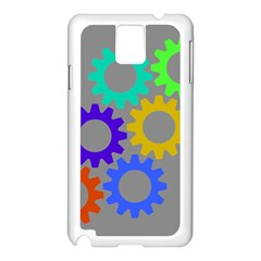 Gear Transmission Options Settings Samsung Galaxy Note 3 N9005 Case (white)