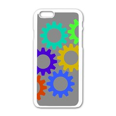 Gear Transmission Options Settings Apple Iphone 6/6s White Enamel Case