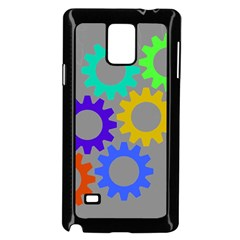 Gear Transmission Options Settings Samsung Galaxy Note 4 Case (black)