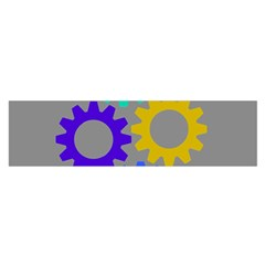 Gear Transmission Options Settings Satin Scarf (oblong)
