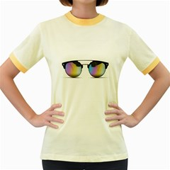 Sunglasses Shades Eyewear Women s Fitted Ringer T Shirts