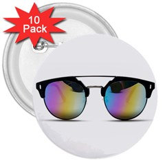 Sunglasses Shades Eyewear 3  Buttons (10 Pack)