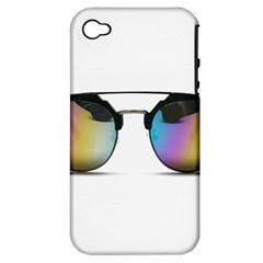 Sunglasses Shades Eyewear Apple Iphone 4/4s Hardshell Case (pc+silicone)