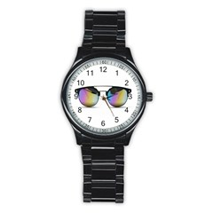 Sunglasses Shades Eyewear Stainless Steel Round Watch