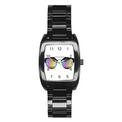 Sunglasses Shades Eyewear Stainless Steel Barrel Watch