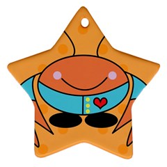 Crab Sea Ocean Animal Design Star Ornament (two Sides)
