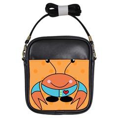 Crab Sea Ocean Animal Design Girls Sling Bags