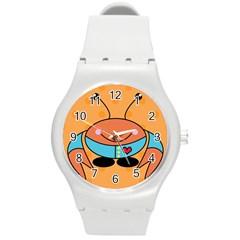 Crab Sea Ocean Animal Design Round Plastic Sport Watch (m)