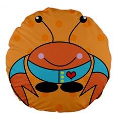 Crab Sea Ocean Animal Design Large 18  Premium Round Cushions
