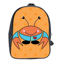 Crab Sea Ocean Animal Design School Bag (xl)