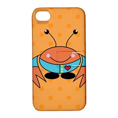 Crab Sea Ocean Animal Design Apple Iphone 4/4s Hardshell Case With Stand