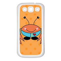Crab Sea Ocean Animal Design Samsung Galaxy S3 Back Case (white)