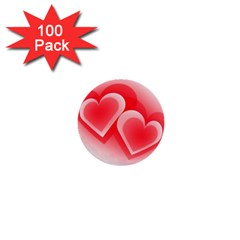 Heart Love Romantic Art Abstract 1  Mini Buttons (100 Pack)