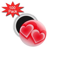 Heart Love Romantic Art Abstract 1 75  Magnets (100 Pack)