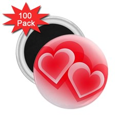Heart Love Romantic Art Abstract 2 25  Magnets (100 Pack)