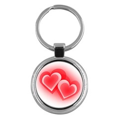 Heart Love Romantic Art Abstract Key Chains (round)