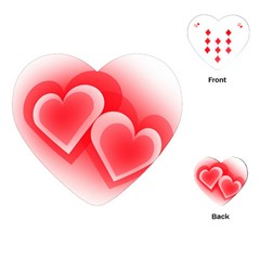 Heart Love Romantic Art Abstract Playing Cards (heart)