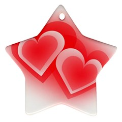 Heart Love Romantic Art Abstract Star Ornament (two Sides)