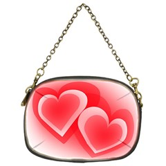 Heart Love Romantic Art Abstract Chain Purses (one Side)