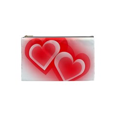 Heart Love Romantic Art Abstract Cosmetic Bag (small)