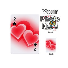 Heart Love Romantic Art Abstract Playing Cards 54 (mini)