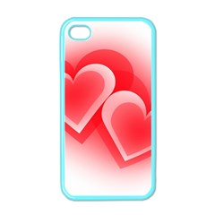 Heart Love Romantic Art Abstract Apple Iphone 4 Case (color)