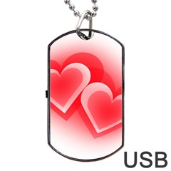 Heart Love Romantic Art Abstract Dog Tag Usb Flash (one Side)