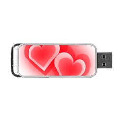 Heart Love Romantic Art Abstract Portable Usb Flash (two Sides)