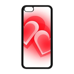 Heart Love Romantic Art Abstract Apple Iphone 5c Seamless Case (black)