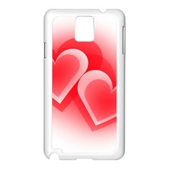 Heart Love Romantic Art Abstract Samsung Galaxy Note 3 N9005 Case (white)