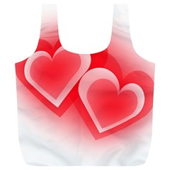 Heart Love Romantic Art Abstract Full Print Recycle Bags (l)