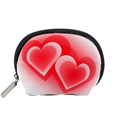 Heart Love Romantic Art Abstract Accessory Pouches (small)