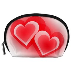 Heart Love Romantic Art Abstract Accessory Pouches (large)